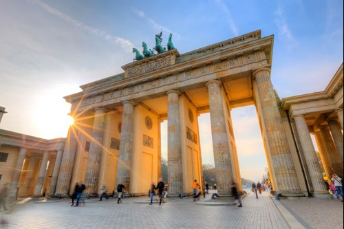 Brandenburg gate in Berlin. Fly with easyJet from Glasgow Airport