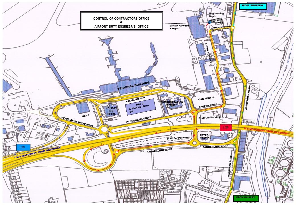 Car Park  Glasgow Airport Map