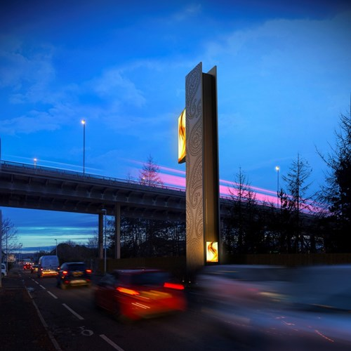 M8 Tower mock up beside Glasgow Airport