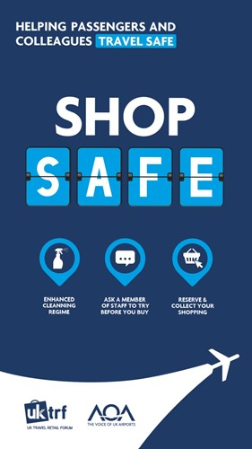 Helping passengers and colleagues travel safe. Shop safe.