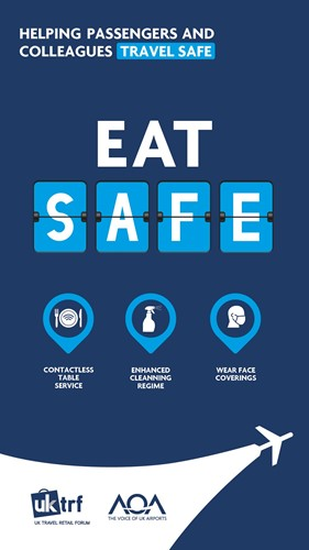 Helping passengers and colleagues travel safe. Eat safe.